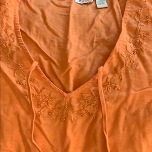 55 linen 45 cotton  3/4 sleeves